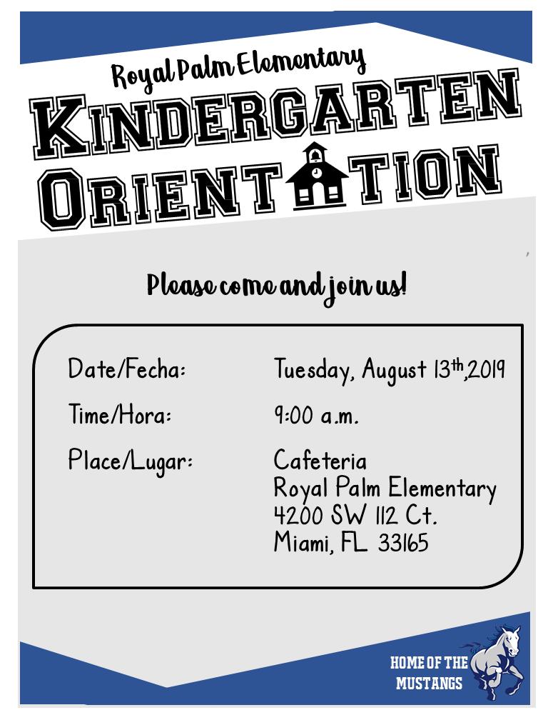 Kindergarten Orientation @ Cafeteria